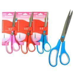 """144 Units of Scissors 1 Pair 9.5"""" 3 Clr - Scissors"""