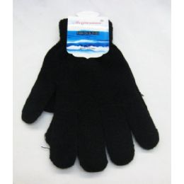 96 Units of Women Black Magic Glove - Knitted Stretch Gloves