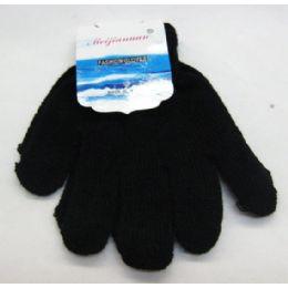 96 Units of Kids Black Magic Glove - Kids Winter Gloves