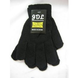 96 Units of Womens Black Magic Glove - Knitted Stretch Gloves