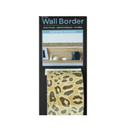 144 Units of Cheetah Pattern Mini Repositionable Wall Border - Home Decor
