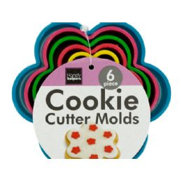 72 Units of Flower Shape Cookie Cutter Molds Set - Baking Supplies