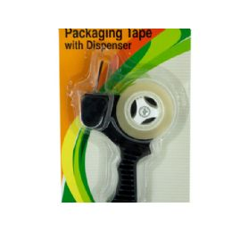 36 Units of Packaging Tape with Refillable Dispenser - Tape