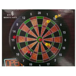 6 Units of Magnetic Dartboard Game - Dominoes & Chess