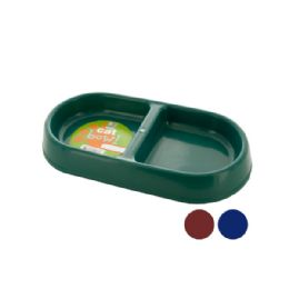 72 Units of DoublE-Sided Cat Bowl - Pet Toys