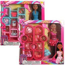 12 Units of ETHNIC 22 PIECE TRENDY'S FASHION SETS - Dolls