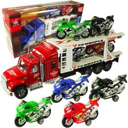 24 Units of 5 PIECE CAR CARRIERS W/4 MOTORCYCLES