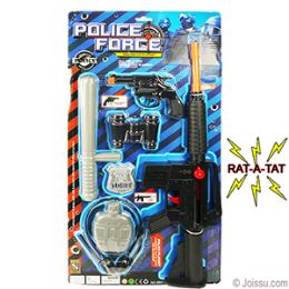 36 Units of 7 Piece Police Force Play Sets - Action Figures & Robots