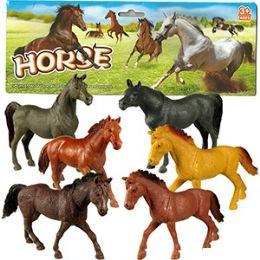 48 Units of 6 Piece Vinyl Horses - Animals & Reptiles