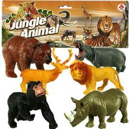 30 Units of 6 Piece Vinyl Jungle Animals. - Animals & Reptiles