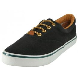 24 Units of Women's Canvas Shoes In Black - Women's Sneakers