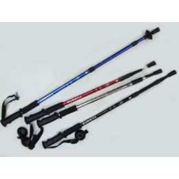 "60 Units of Antishock Hiking Stick Expandable From 25"" To 52"" Assorted Colors - Camping Gear"