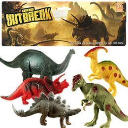 30 Units of 5 Piece Vinyl Dinosaur Sets. - Animals & Reptiles
