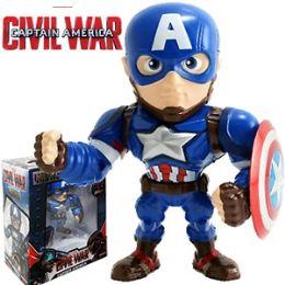 8 Units of Die Cast Marvel's Capt. America Figurines - Action Figures & Robots