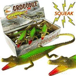 108 Units of Vinyl Green Crocodiles With Squeakers - Animals & Reptiles