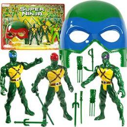 16 Units of 10 Piece Super Ninja Figures Play Sets - Action Figures & Robots