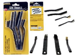 72 Units of 4 Pc Wire Cleaning Brush Set - Cleaning Products