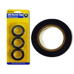144 Units of 3 Piece Electric Tape - Tape