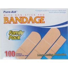 48 Units of 100 Assorted Bandages - Bandages and Support Wraps