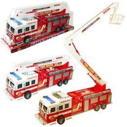 24 Units of JUMBO FRICTION POWERED FIRE RESCUE TRUCKS.
