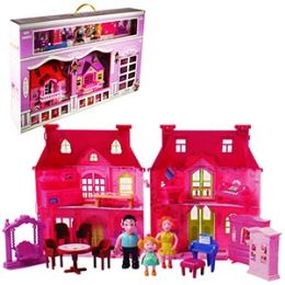 6 Units of 15 PIECE HAPPY FAMILY TRAVEL DOLL HOUSES - Dolls