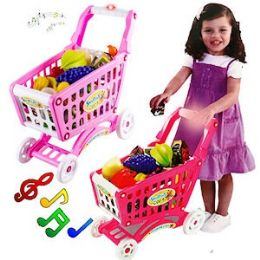 8 Units of 47 PIECE SHOPPING CART PLAYSETS. - Dolls