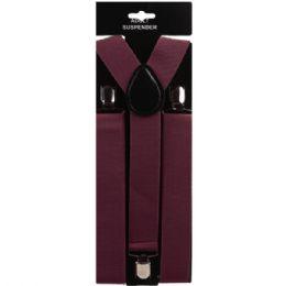 60 Units of Maroon Suspender - Suspenders