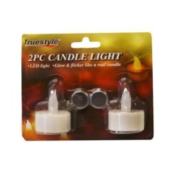 96 Units of 2 Piece Candle Light - Night Lights