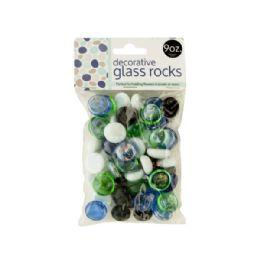 72 Units of Decorative Glass Rocks - Glassware