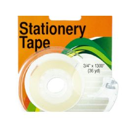 72 Units of Clear Stationery Tape in Dispenser - Tape