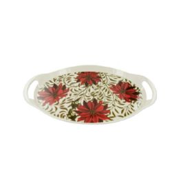 12 Units of Poinsettia Serving Tray Set - Serving Trays
