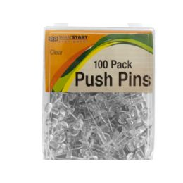 36 Units of Clear Push Pins - Push Pins and Tacks