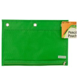 72 Units of Zippered Pencil Pouch For 3-Ring Binders - Clipboards and Binders