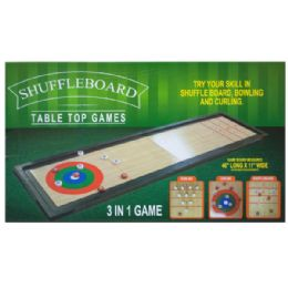 3 Units of 3 In 1 Shuffleboard Tabletop Game - Dominoes & Chess