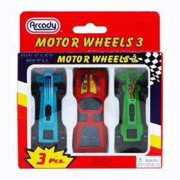 """144 Units of 2.75"""" 3pc Die Cast Cars 24pcs - Toy Sets"""