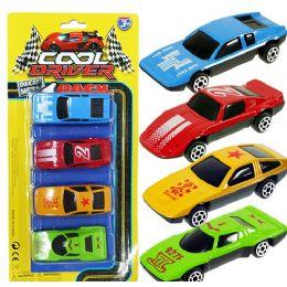 72 Units of 4 Piece Die Cast Race Car Sets - Toy Sets