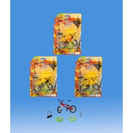 60 Units of Finger Die Cast Bike With Accessories - Toy Sets