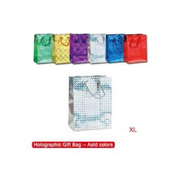 144 Units of Extra Large Holographic Gift Bag - Gift Bags