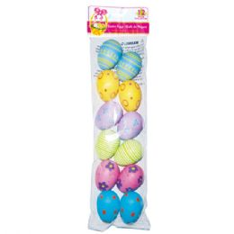 "96 Units of 2.5"" 12pc Printed East Eggs - Easter"