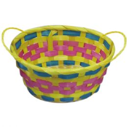 "96 Units of Round Basket 10""dia X 3.7""h - Easter"