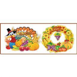 144 Units of 3D Thanksgiving Cutout - Halloween & Thanksgiving