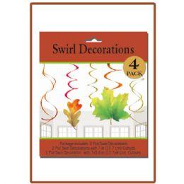 144 Units of 4pk Swirl decoration - Halloween & Thanksgiving