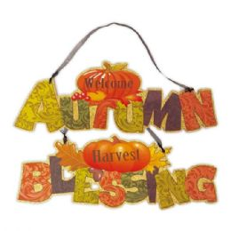 144 Units of Thanksgiving plaque w/GLT - Halloween & Thanksgiving