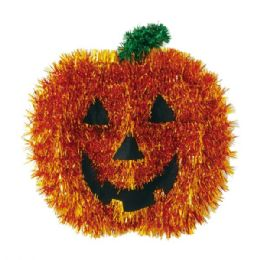 "96 Units of 13""tisel pumkin decoration - Halloween & Thanksgiving"