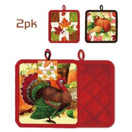 "96 Units of 2pc/6.75"" Harvest Pot Holder - Halloween & Thanksgiving"