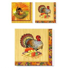 72 Units of Thanksgiving Luncheon Napkin - Halloween & Thanksgiving