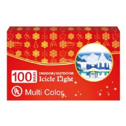 24 Units of 100L icicle multi UL - Christmas Decorations