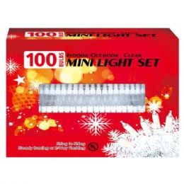 24 Units of 100L Clear light tray UL with White wire - Christmas Decorations