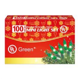 24 Units of 100L green light comp. UL - Christmas Decorations