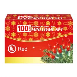 24 Units of 100L red light comp. UL - Christmas Decorations